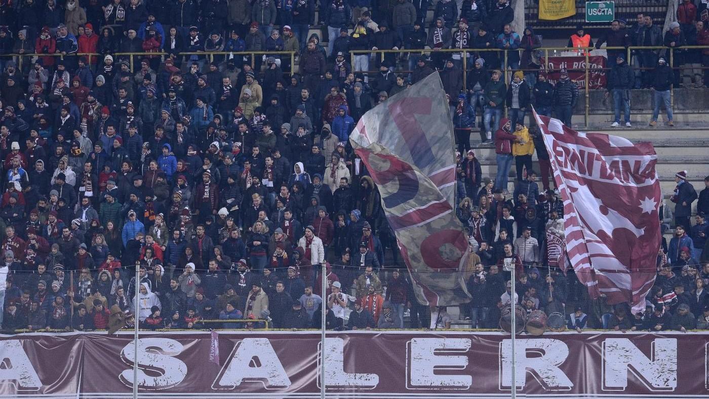 Daspo a 2 tifosi Salernitana per episodi di violenza