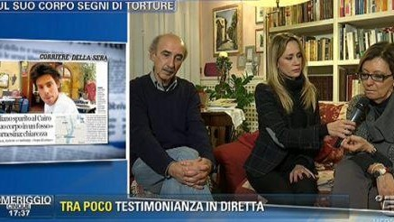 Pomeriggio5, amico famiglia Regeni: In Italia a inizio settimana