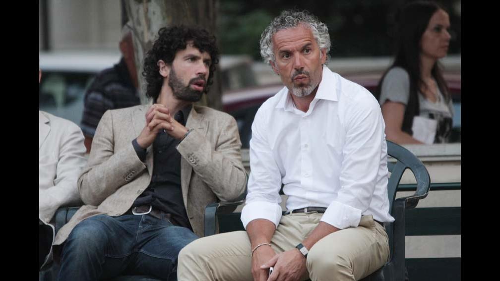 Roberto Donadoni e Damiano Tommasi si godono il torneo di tennis vip
