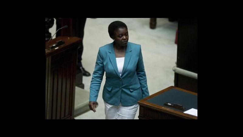 Kyenge: Il Pd è come un suq, ne sono orgogliosa
