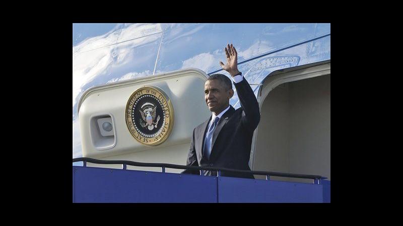 Obama arrivato in Svezia: vedrà premier e re, poi ripartirà per G20