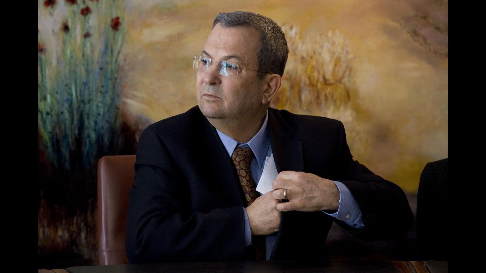 Barak: Non escludo operazione militare a Gaza, ma è scenario peggiore