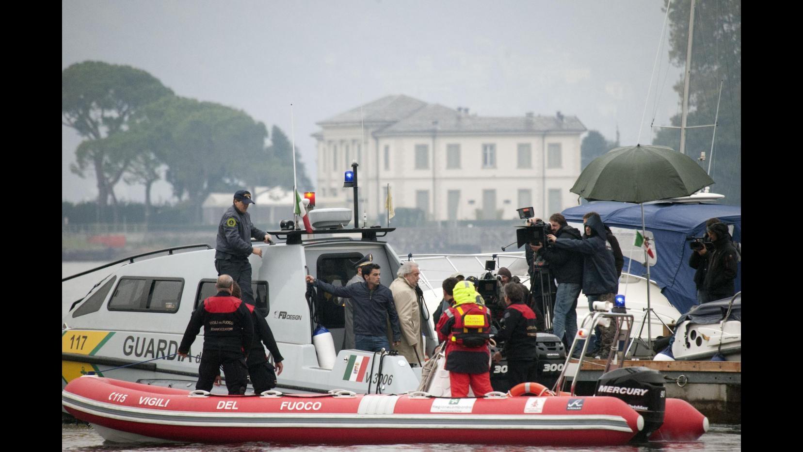 La nuova fiction 'Una grande famiglia' sul set del lago di Como