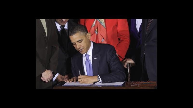 Usa, Obama firma legge bipartisan per incentivare assunzioni veterani