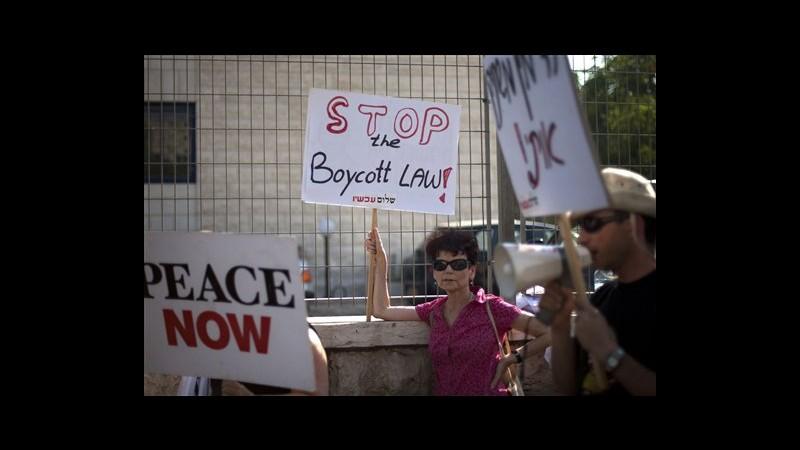 Israele, gruppo pacifista fa ricorso contro legge boicottaggi colonie