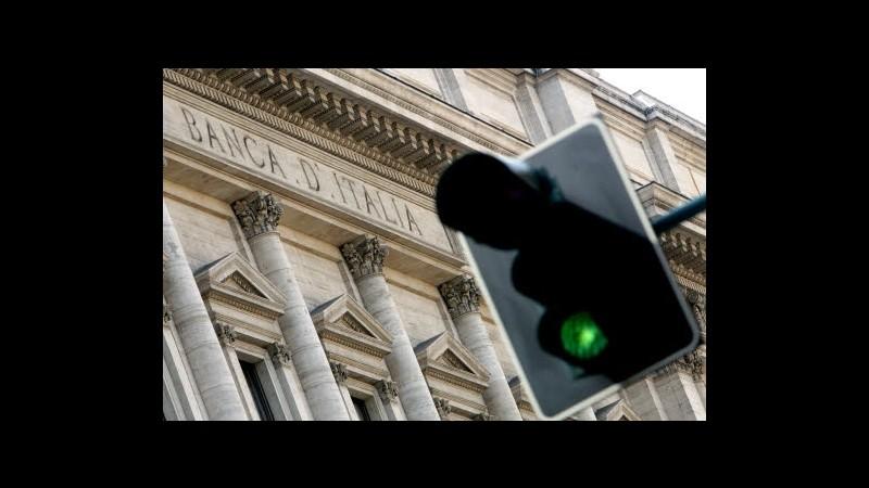 Bankitalia: Accelerano impieghi, +4,4% a maggio. Per famiglie +5,2%