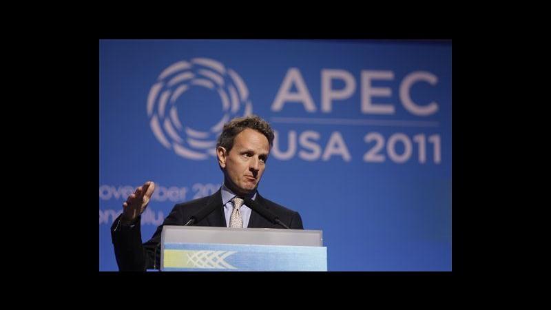 Geithner: Ue lavori a stabilità finanziaria