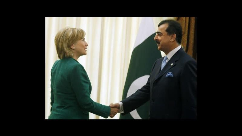 Pakistan, Clinton chiama Gilani dopo raid: Partecipi a summit Bonn