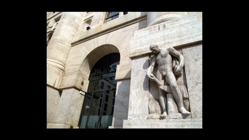 Borsa, Milano rimbalza in attesa dell'Eurogruppo
