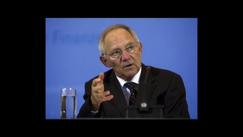 Grecia, Schaeuble: Non mi aspetto default, ottimista su colloqui debito