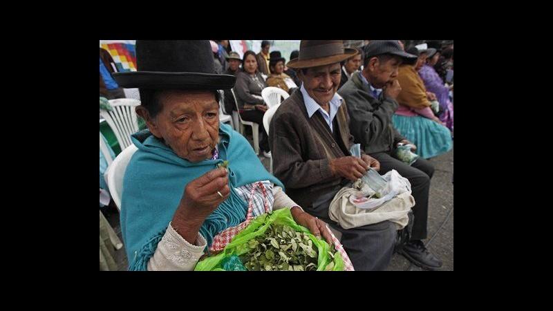 Bolivia, Morales chiede a Onu legalizzazione masticazione foglie coca