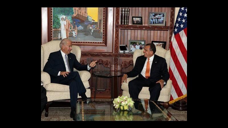 Leader Centroamerica incontrano Joe Biden, focus su droga e violenze