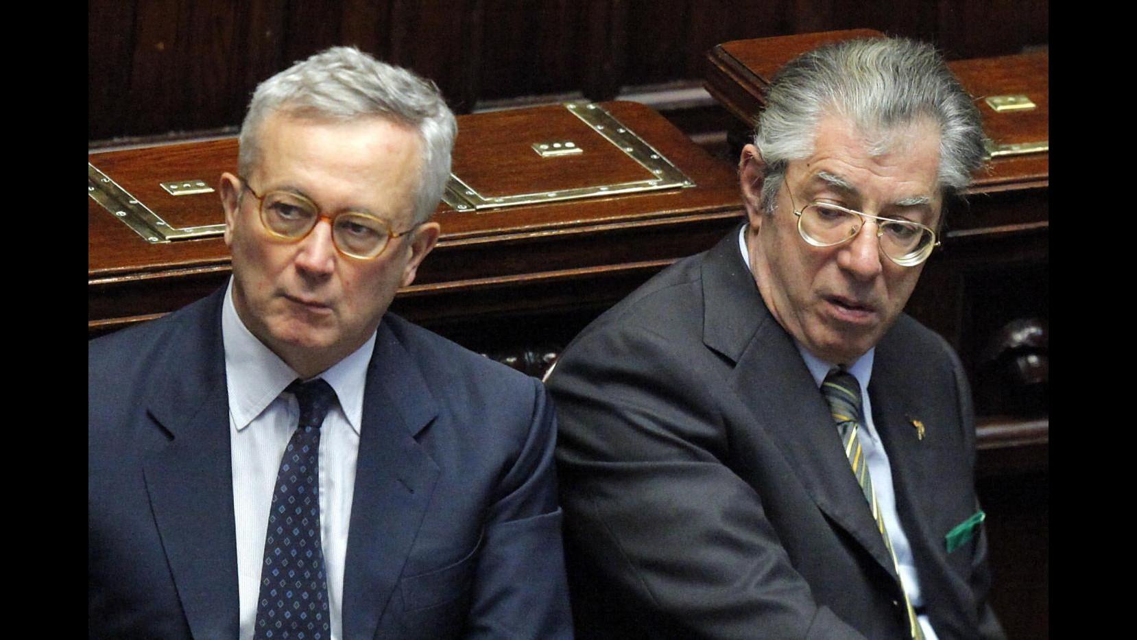 Bossi: Sulle pensioni Tremonti non mi ha convinto