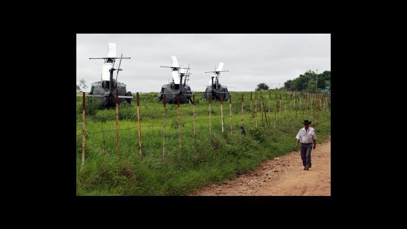 Colombia, arrivati elicotteri per rilascio ultimi prigionieri Farc