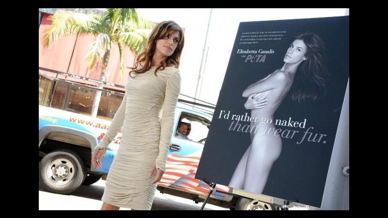 Elisabetta Canalis difende gli animali: Meglio nuda che in pelliccia
