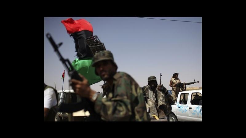 Libia, ribelli attaccati da lealisti all'ingresso nord di Bani Walid