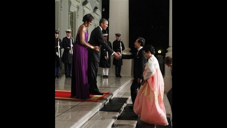 Usa, cena di Stato alla Casa Bianca per accogliere Lee Myung-bak