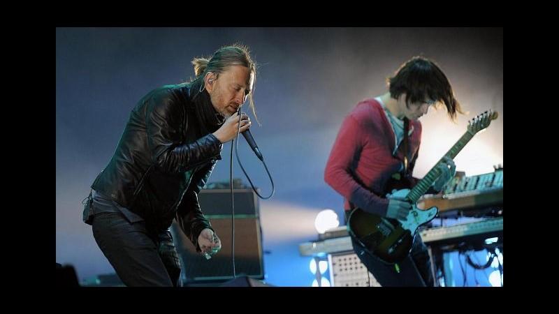 Radiohead a Bologna 3 luglio, concerto spostato ad Arena Parco nord