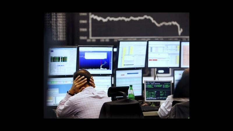 Borsa, Milano in negativo (-0,8%): bene Mediaset, affonda Fonsai