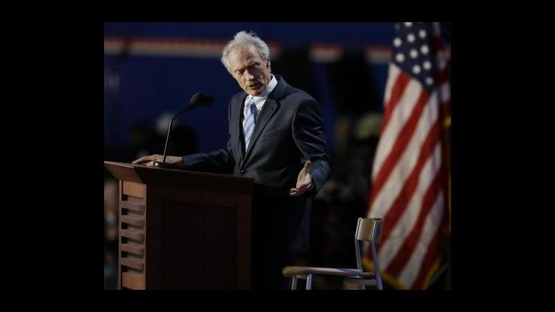Usa 2012, vip scatenati su Twitter dopo Clint Eastwood show su Obama