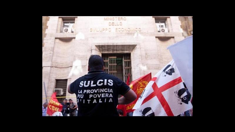 Protesta Sulcis da Sardegna a Roma, oggi incontro a ministero