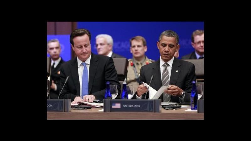 Siria, telefonata Obama-Cameron: Preoccupati per situazione umanitaria