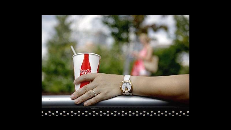 Coca-Cola, utile III trimestre sale a 2,45 mld dollari, ricavi -3%
