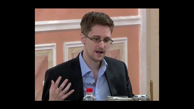 Caso Nsa, Snowden in video: Sorveglianza mette a rischio popolazioni