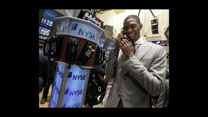 Apertura positiva per Wall Street, Ftse Mib +0,83%