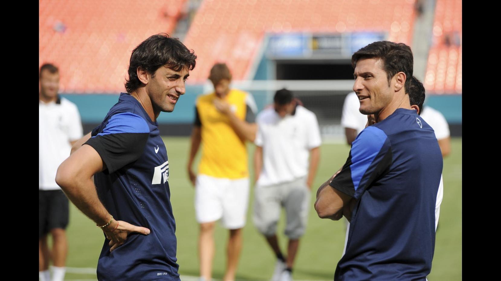 Zanetti: Spero di tornare al più presto. E Milito si ferma