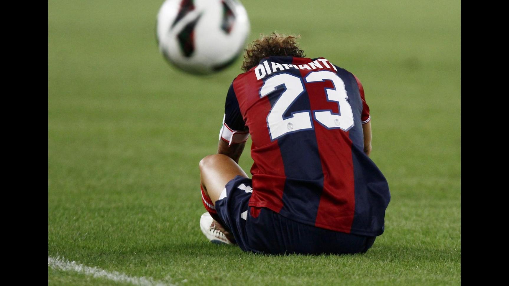 Bologna, affaticamento muscolare per Alessandro Diamanti