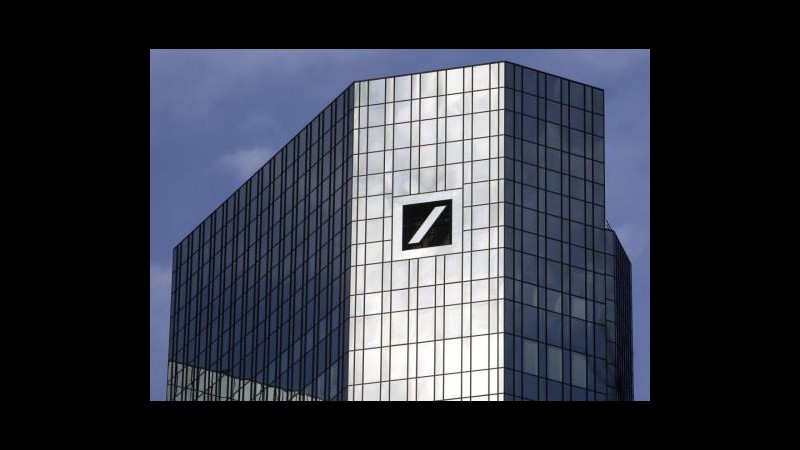 Deutsche Bank, utile III trim. crolla a 51 mln, pesano accantonamenti