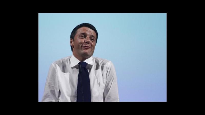 Renzi: Berlusconi candidato? Sarei il più felice del mondo
