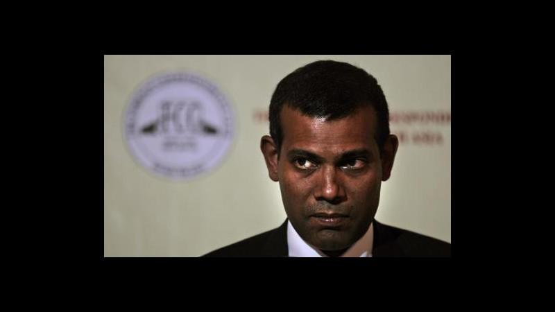 Maldive, ordinato arresto ex presidente Nasheed