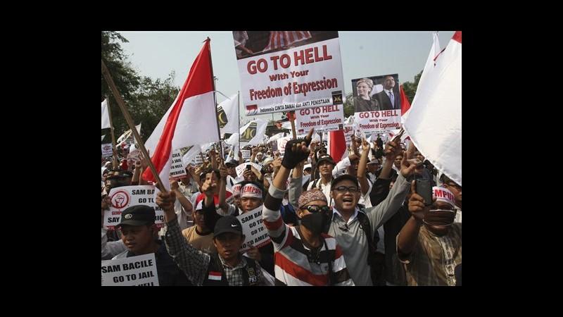 Film Maometto, 5mila in corteo a Giacarta in Indonesia