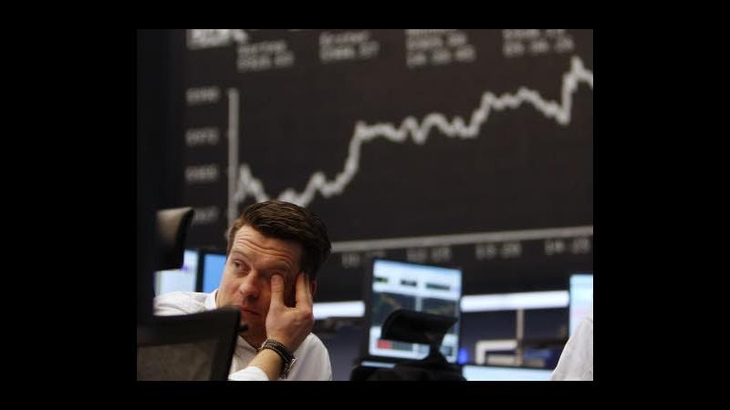 Borsa, Milano brilla con banche su dati Usa e spread, svetta Mediaset