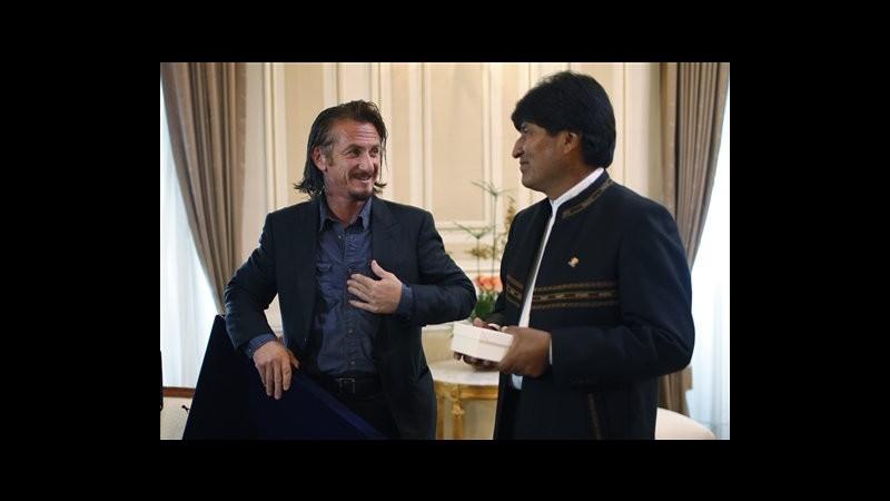 Seann Penn in Bolivia, Morales gli chiede di difendere foglie coca