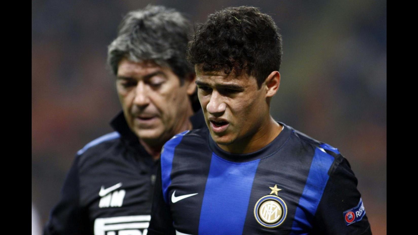 Inter: frattura da impatto alla tibia per Coutinho