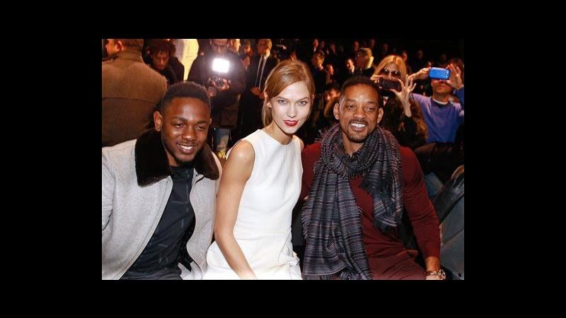 Parigi, Will Smith e Karlie Kloss in prima fila per sfilata Dior Homme