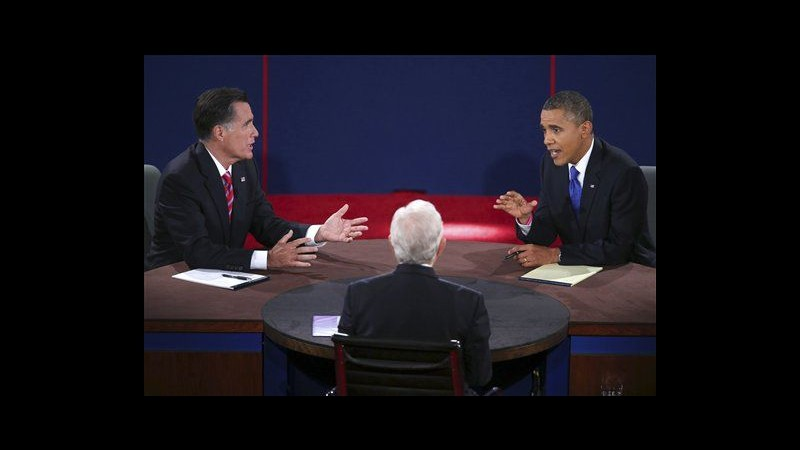 Usa, nel dibattito Obama è il più forte, Romney sulla difensiva