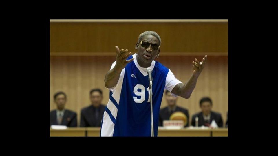 Nord Corea Buon Compleanno Di Rodman A Kim Prima Amichevole Basket