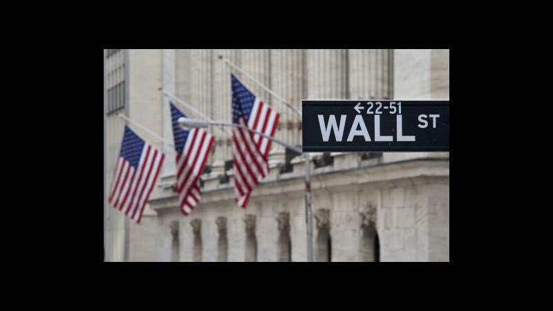 Apertura positiva per Wall Street, Dow Jones +0,38%