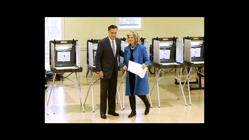 Usa 2012, Mitt Romney e moglie Ann hanno votato a Belmont