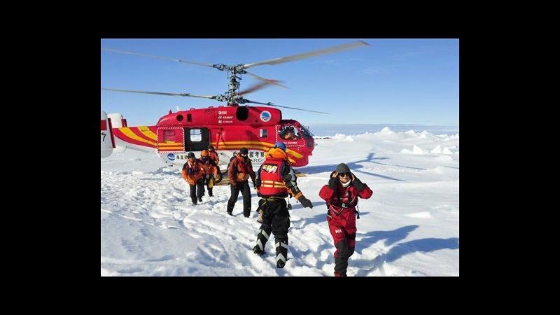 Antartide, nave bloccata: tutti in salvo i 52 passeggeri