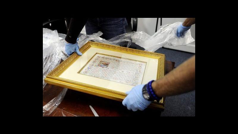 Torino, Florida restituirà manoscritti rubati da archivio diocesano