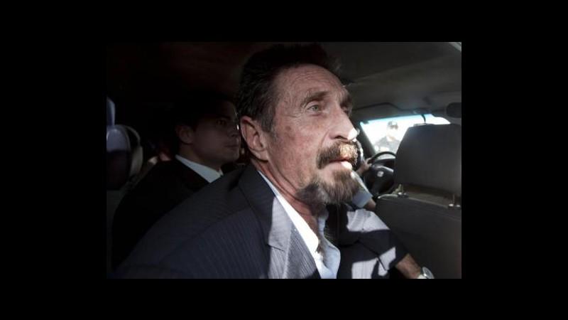 Usa, McAfee arrivato a Miami dopo espulsione dal Guatemala