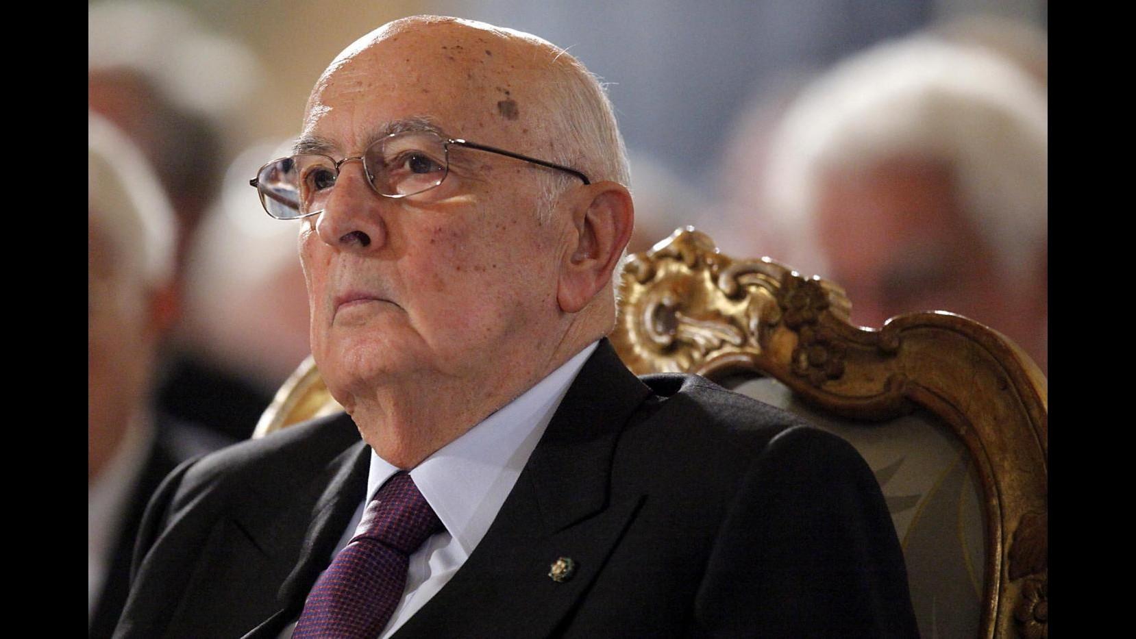 Mafia, Napolitano attende motivazioni, accolta con rispetto sentenza