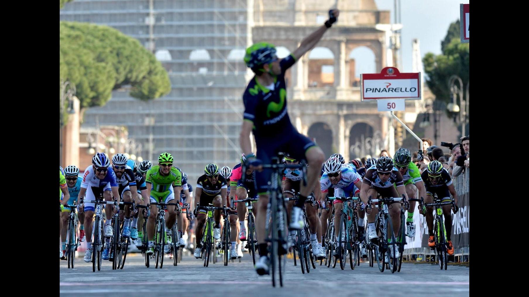 Ciclismo, lo spagnolo Valverde vince la Roma Maxima