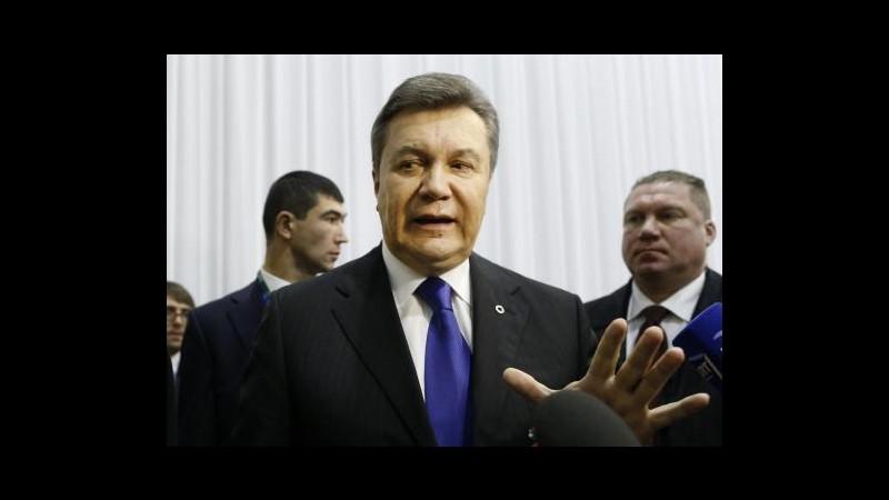 Ucraina, Yanukovych terrà conferenza stampa nel sud della Russia