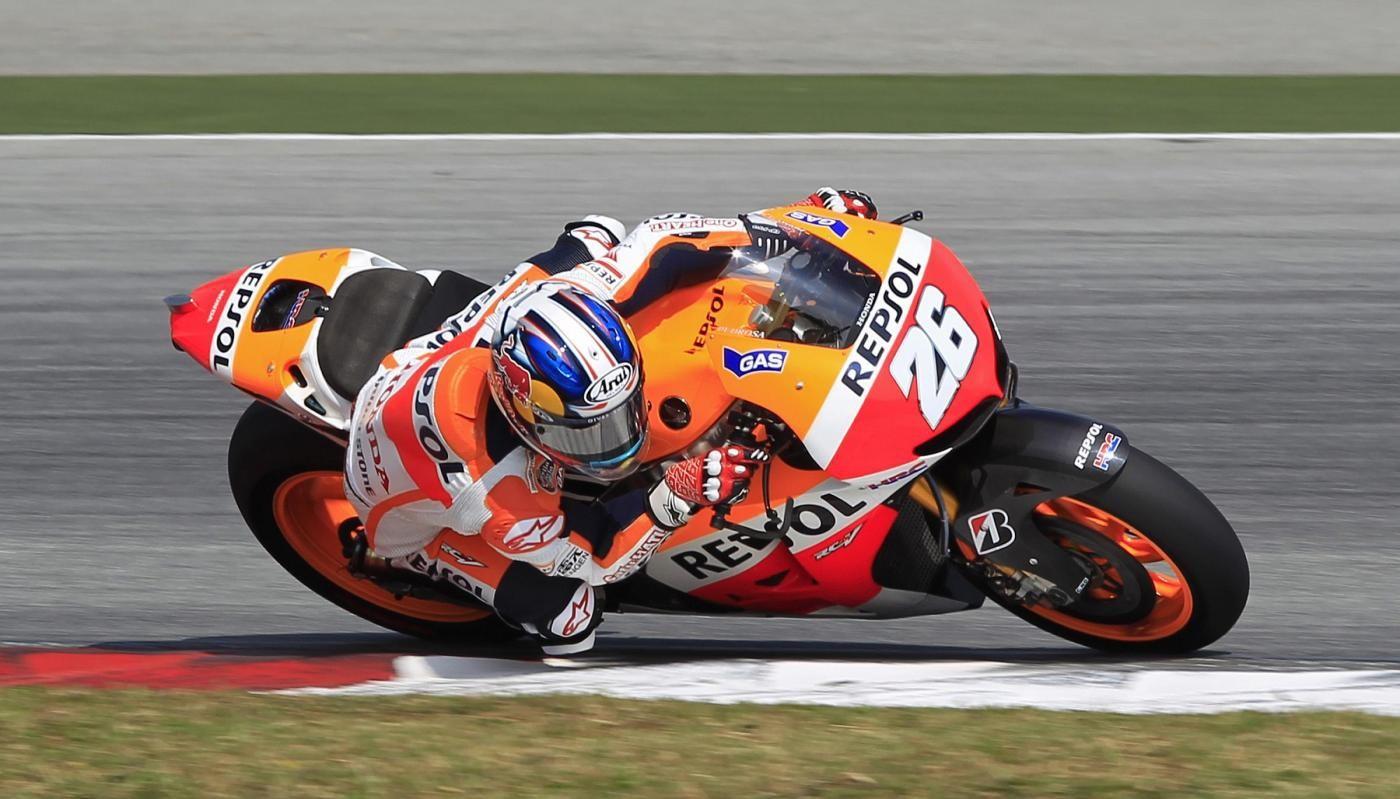 MotoGp, test Sepang: Pedrosa al comando in seconda giornata, Rossi 4° davanti a Dovizioso. Indietro Lorenzo